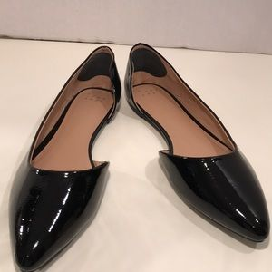 A New Day Black Patent Leather Flats Size 10